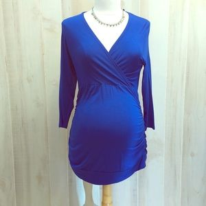 NEW maternity- Lilac Clothing- Royal blue top- XL